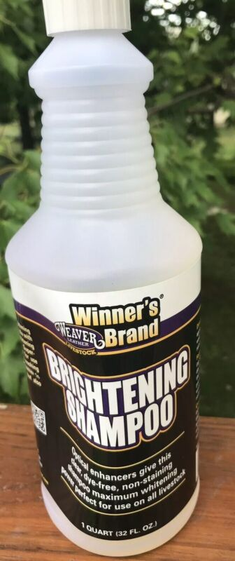 Weaver Leather Livestock Winners Brand Brightening Shampoo 32 Oz. New