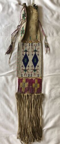 Antique Native American Beaded Sioux Pipebag