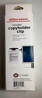 Paper Clip Document Monitor Holder Office Clipboard File Copy Stand School Board
