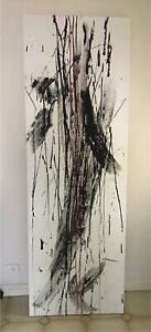 Abstract Wrapped Canvas Painting 210 x 70cm Bexley North Rockdale Area Preview
