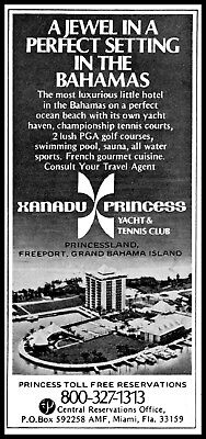 1975 Xanadu Princess yacht & tennis club Bahamas vintage photo Print Ad ads27