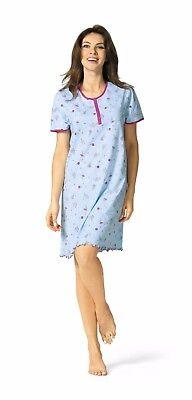 Comtessa Single Jersey Nachthemd Nachtkleid Shirt in aqua oder rosa NEU ()