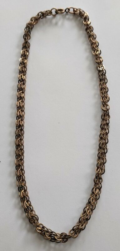 """Antique Victorian Gold Filled Multi Link Chain Necklace 19"""" Long"""