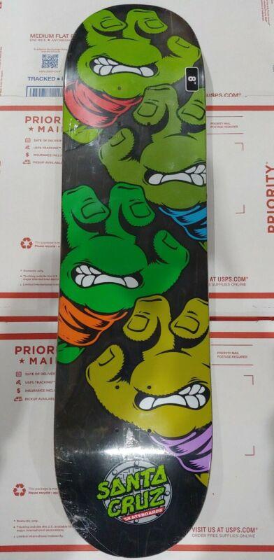 Santa Cruz X TMNT Teenage Mutant Ninja Turtles Skateboard Deck Screaming Hand!