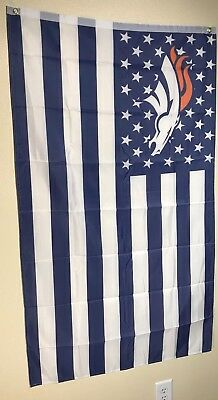 DENVER BRONCOS STARS AND STRIPE   FLAG 3x5 FREE FAST SHIPPING! POLYESTER