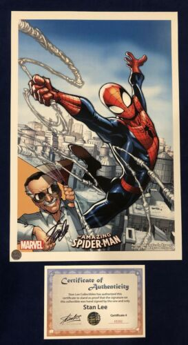 Amazing Spider-Man #1 Humberto Ramos Litho Signed by Stan Lee with COA! MARVEL!!