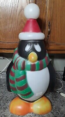 """Vintage Christmas General Foam 28"""" Penguin Chilly Willy Lighted Blow Mold"""