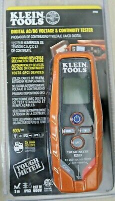 Klein Tools Digital Acdc Voltage Continuity Tester Et250 New W Free Shipping