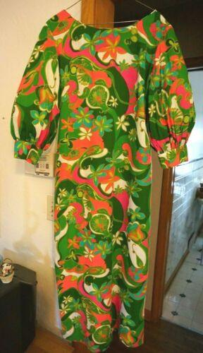 Vtg 1960s Hawaiian dress MuuMuu ISLAND CASUALS Waikiki Island Cruise Tiki Wear