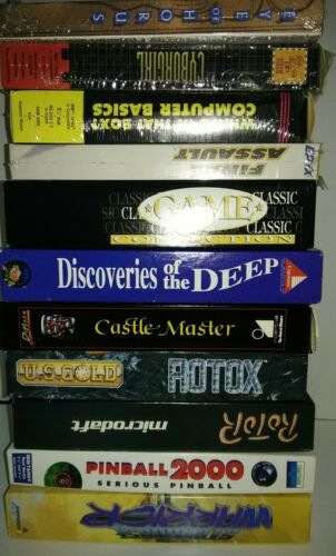 Computer Games - VINTAGE GAME LOT 11 COMPUTER GAMES PC EYE OF HORUS, CASTLE MASTER ROTOR see pics