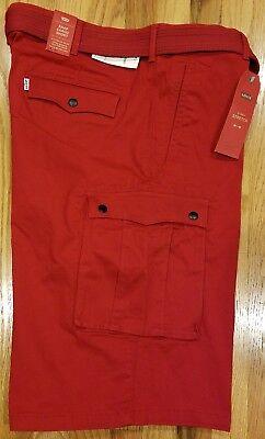 Levis Men Snap Cargo Comfort Stretch Shorts With Belt 135810050 Sz 42 THESPOT917