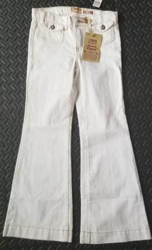 Childrens Place 1989 Plenty Flare Adjustable Waist Jeans: Ivory/white Size 10