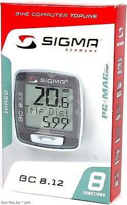 Sigma Bc 8 12 Wired 8 Function Bicycle Computer Speed Distance Upgraded Bc5 12