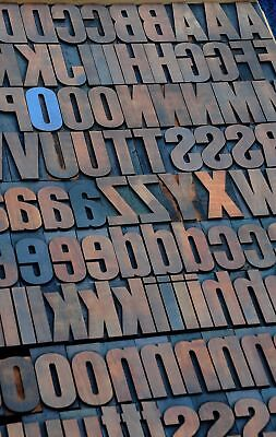 Letterpress Wood Printing Blocks 188pcs 2.83 Tall Wooden Type Woodtype Alphabet