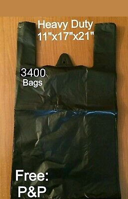 HEAVY DUTY BLACK VEST CARRIER BAGS 11
