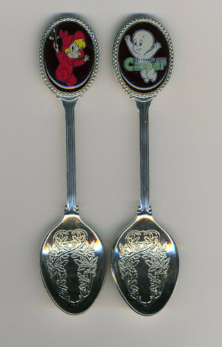 Casper The Friendly Ghost and Wendy 2 Silver Plated Spoons Featuring Casper