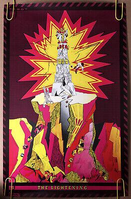 Original Vintage Poster The Lightning psychedelic Blacklight Headshop Musik 60s
