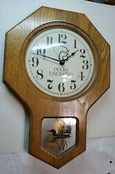 Ducks Unlimited Vintage Wood Wall Clock 17 Tall 11.5 Wide (Wall)