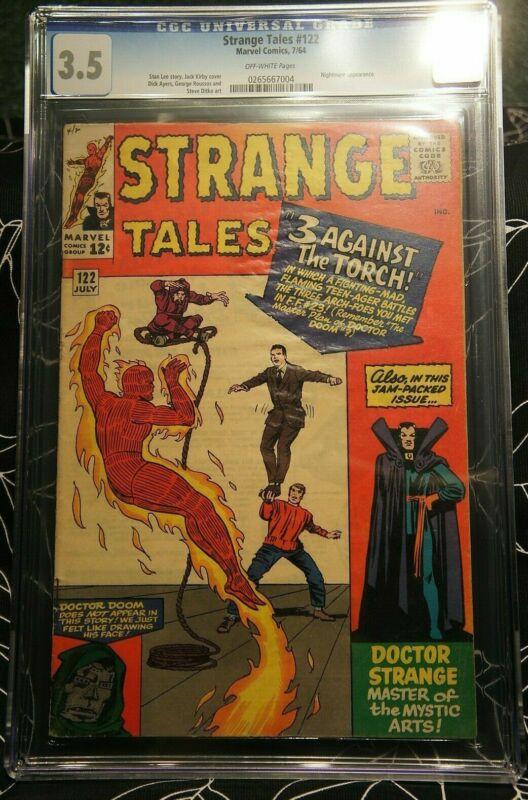 Strange Tales #122 CGC 3.5, Human Torch, Dr. Strange, Marvel Comics 1964