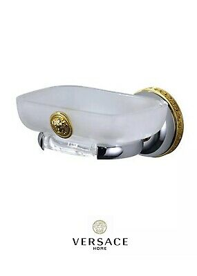 New Classic Soap Dish - Versace Classic Chrome and Gold Wall Mount Soap Dish Holder New Authentic