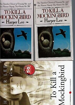 TO KILL A MOCKINGBIRD, Harper Lee, Includes 3 books, (2 small prbks and one