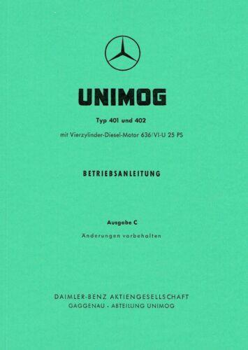 Unimog Ersatzteilliste Unimog Type 401 - 30025 402 2010