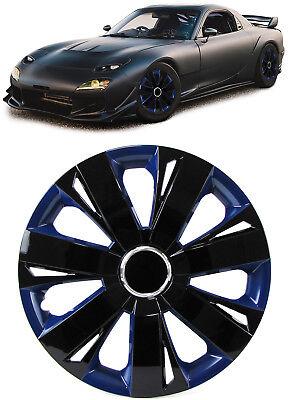 Radkappen Radzierblenden Tenzo-R XI für Stahlfelgen 15 Zoll schwarz blau