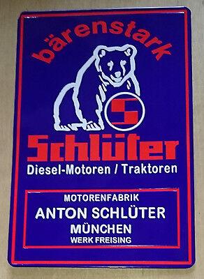 Schlüter Blechschild | 20x30 cm | Traktor | Bulldog | Metallschild   15-001