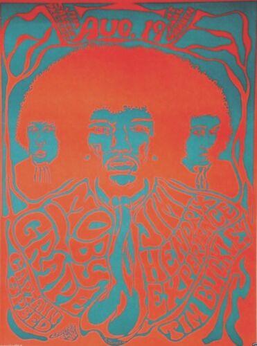 JIMI HENDRIX EXPERIENCE 1969 EARL WARREN SHOWGROUNDS ORIGINAL CONCERT POSTER