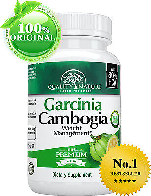 ▶ Pure Garcinia Cambogia 80% HCA 1400mg Weight Loss Diet Pills, Belly Fat Burner