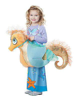 Ariel Little Mermaid Riding 3D Seahorse Toddler Costume