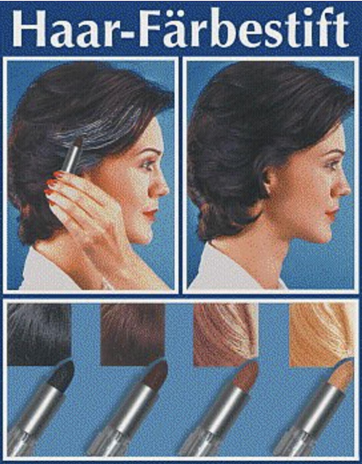 WENKO 3512012500 Haarfärbestift Schwarz - einfache Anwendung, Grauabdeckung,