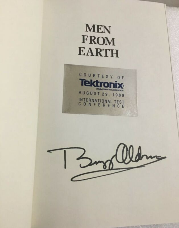 "Edwin ""Buzz"" Aldrin Signed Book ""Men From Earth"" Astronaut"