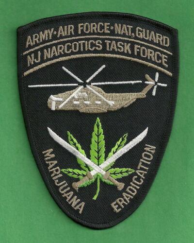 NEW JERSEY NARCOTICS TASK FORCE MARIJUANA ERADICATION ENFORCEMENT SHOULDER PATCH