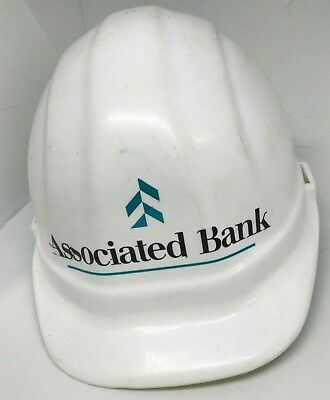 Associated Bank White Construction Hard Hat Omega Ii Adjustable 6 5 8