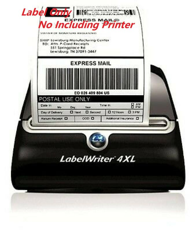 20 Rolls 4400 labels 4x6 Thermal Shipping Label 220/Roll fit Dymo 4XL 1744907