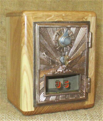 Post Office Door Bank #35 - 1920 Eagle Door - Hickory - Free Shipipng