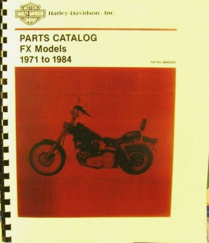 1971-1984   Parts Catalog For  FX   Models    278 PGS     #99455-83C