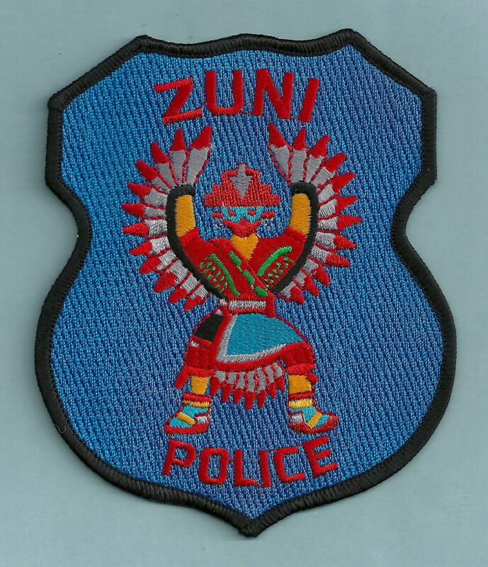 ZUNI NEW MEXICO TRIBAL POLICE SHOULDER PATCH INDIAN DANCER!
