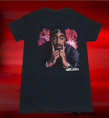 New Poetic Justice 2 Pac Mens 1993 Black Classic Vintage T-Shirt