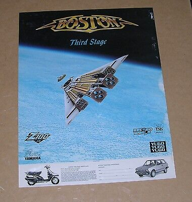 """Boston (band) PROMO poster -""""Third Stage""""- 17x22- 1986 - Tom Scholtz, Brad Delp"""