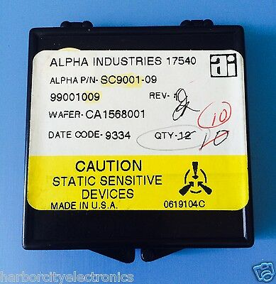 Sc9001-09 Alpha Industries Capacitor Chip Rf Microwave Product 10units Total