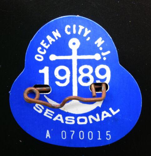 Ocean City NJ 1989 SEASON Beach Tag Hard Year To Find Jersey Shore
