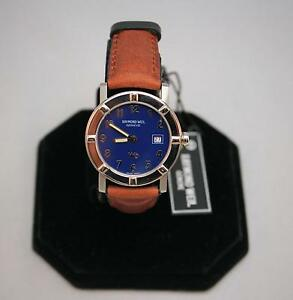 NEW-OLD-STOCK-Raymond-Weil-W1-Blue/Brown-3001-Dial-30mm