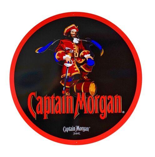 Captain Morgan Sign - New Design - 24 inch diameter metal sign