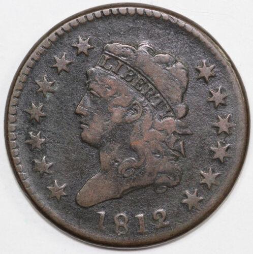 1812 1c Classic Head Large Cent