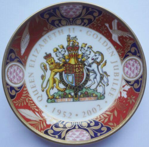 2002 ROYAL WORCESTER bone china GOLDEN JUBILEE bottle COASTER - QUEEN ELIZABETH