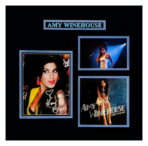 Amy Winehouse Original Photograph Autograph Tribute Display Framed