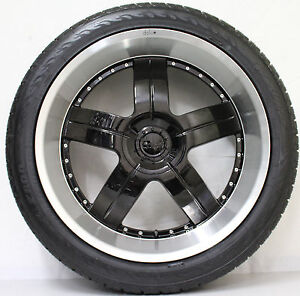 24-INCH-GENUINE-BRAND-NEW-DOLCE-WHEELS-WITH-NEW-TYRES-FORD-F150