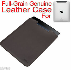 Full-Grain-Genuine-Leather-Rugged-Sleeve-Slip-Case-Pouch-for-Apple-iPad-Brown
